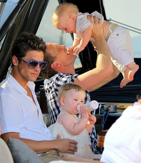 Neil Patrick Harris With David Burtka and their twins