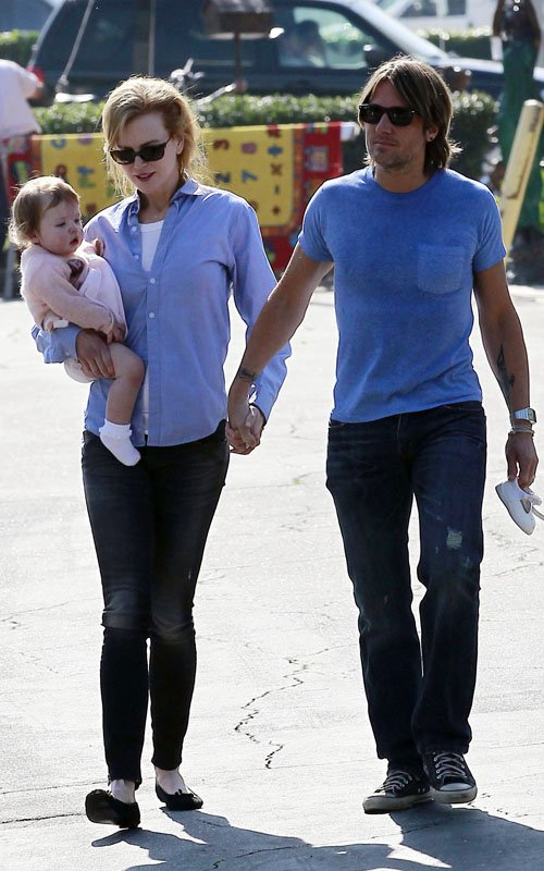 Nicole Kidman & Keith Urban's Lunch Date With Daughter Faith