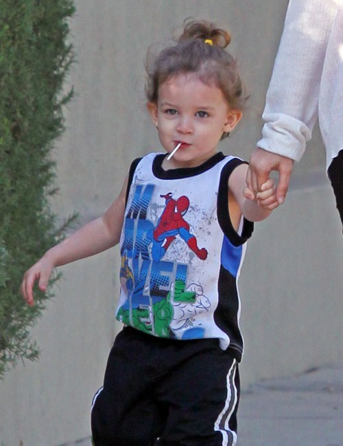 Nicole Richie and her husband musician Joel Madden picked up their kids Harlow and Sparrow from school in Los Angeles, California on February 14, 2012