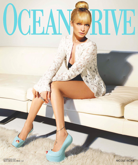 Nicole Richie Covers Ocean Drive Magazine