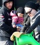 Pink, Carey Hart and Willow Go Biking in Venice Beach