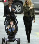 Designer Rachel Zoe hit the Whole Foods Market in Los Angeles, California on February 28, 2012 with her son Skyler Berman and a nanny for some fresh goods after lunch at the News Room.
