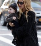 Designer Rachel Zoe arrived at her New York City, New York hotel with her son Skyler Morrison Berman on February 13, 2012.
