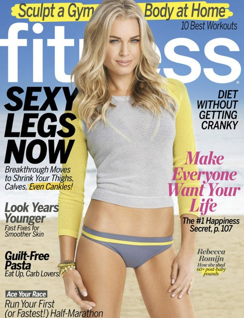 Rebecca Romijn Covers The March 2012 Issue Of Fitness Magazine