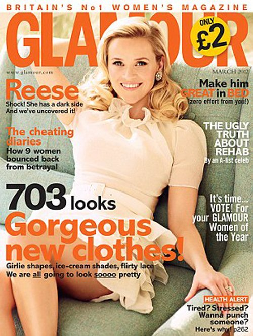 Reese Witherspoon Glamour March 2012