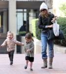 Sarah Jessica Parker Picking Up Her Twins From School