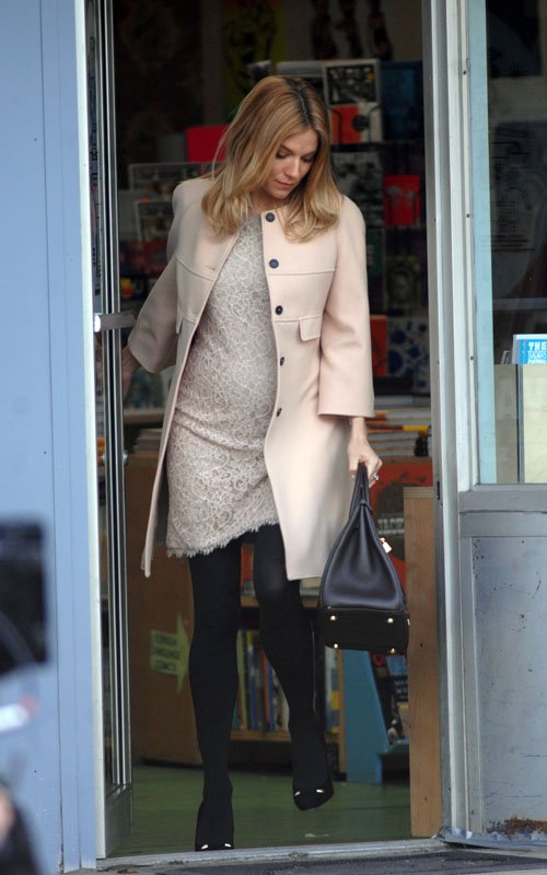 """Sienna Miller on the set of """"A Case of You"""" (February 17)"""