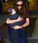 Victoria Beckham arriving at JFK Feb 7