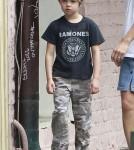 The Jolie-Pitt Kids Walk the Dog