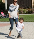 Alessandra Ambrosio – Parkin' It With Her Daughter