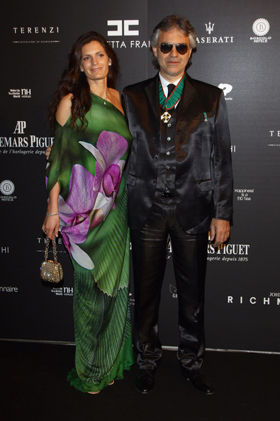 """eronica Berti and Andrea Bocelli attend the """"Fundaction Privada Samuel Eto'o"""" Charity Event Red Carpet on March 17, 2011 in Milan, Italy."""