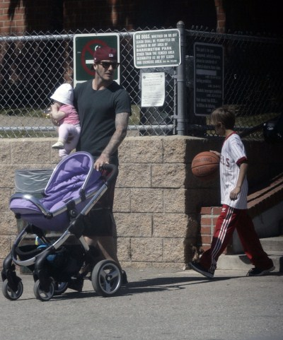 "David Beckham Pulls ""Daddy Duty"""