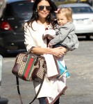 Bethenny Frankel was all smiles, despite her unhappy marriage that her reality television show has shown, as she took her daughter Bryn Hoppy to grab a bite to eat in SoHo, New York on March 7th, 2012