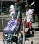 David Beckham Hangs With The Kids