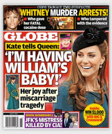 Globe-Magazine-Kate-Middleton-Pregnant - CBL