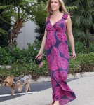 Pregnant reality star Kristin Cavallari out walking her dog in West Hollywood, California on March 23, 2012.