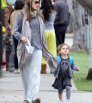 Alessandra Ambrosio picked up her daughter Anja Louise Ambrósio Mazur from school on March 16, 2012. Alessandra and her little one then hit up the Baby Gap with a friend for some shopping before heading on their way.