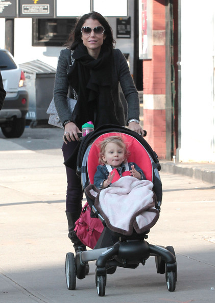 Reality star Bethenny Frankel and husband Jason Hoppy spotted out and about with their daughter Bryn in New York City, NY on March 17, 2012.