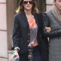 """The Wedding Singer"" star Drew Barrymore leaves her hotel and heads to a Chanel store to do some shopping on March 13, 2012 in Paris, France."