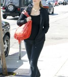 Pregnant actress Elizabeth Berkley out for lunch at Le Pain Quotidien in West Hollywood, California on March 13, 2012.