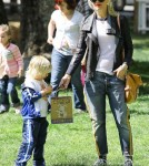 Gwen Stefani and her son Kingston and Zuma enjoy a Easter egg hunt at Irvine Park Railroad in Irvine, California March 27