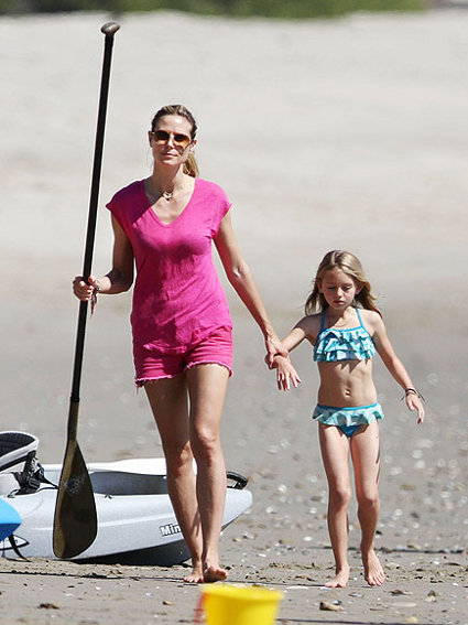Heidi Klum And Daughter Leni Have A Day Of Fun In The Sun