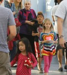 Model Heidi Klum takes her kids Leni, Henry, Johan and Lou to the movies in Century City, California on March 3, 2012