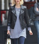 January Jones leaving a dry cleaners in New York City, NY on March 18, 2012.