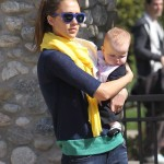 Jessica Alba Wears Scarves To Hide Baby Accidents