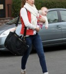 Jessica Alba took daughter Haven Warren to the doctors in Los Angeles, California on March 16, 2012 for a check up.