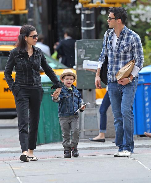 Julianna Margulies' Family Stroll