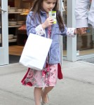 Katie Holmes takes her daughter Suri Cruise to Make Meaning for an afternoon of fun in New York City, NY on March 25, 2012.