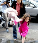 Katie Holmes & Suri Cruise Head to a candy store in New York City
