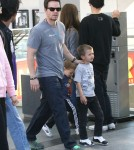 Actor Mark Wahlberg takes his sons Michael and Brendan to the movies in Century City, California on March 3, 2012