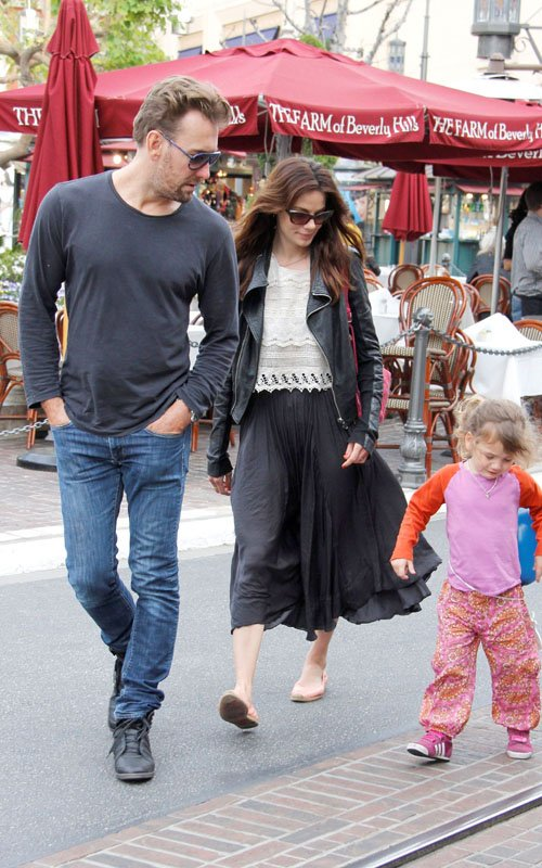 Michelle Monaghan celebrating her birthday with her family at The Grove March 23