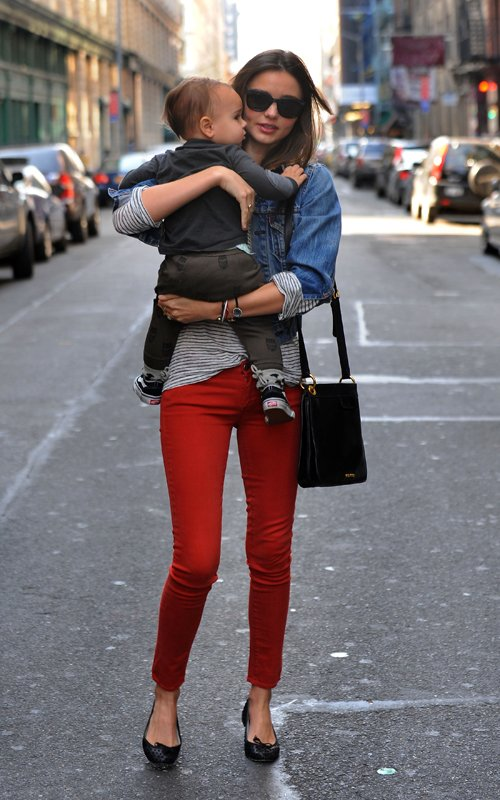Miranda Kerr & Flynn in NYC (March 17)
