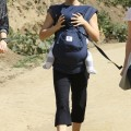 Natalie Portman takes her son Aleph hiking with a couple of her friends in the Hollywood Hills on March 1, 2012 in Los Feliz, CA. Natalie was wearing her rumored wedding ring after sources revealed that she secretly married her sons father Benjamin Millepied.