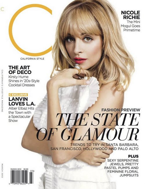 Nicole Richie Covers March 2012 issue of California Style.
