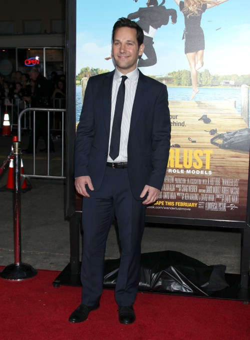 Paul Rudd attends the premiere of 'Wanderlust' at the Mann Village Theatre on February 16, 2012 in Westwood, CA.