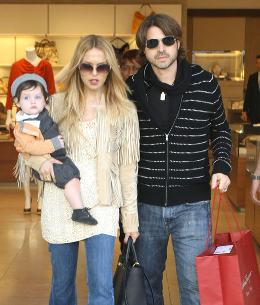 Stylist Rachel Zoe and husband Rodger Berman out shopping with their son Skyler in Beverly Hills, CA on March 2, 2012.