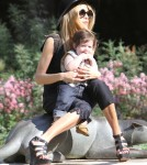 Rachel Zoe enjoyed a day at Coldwater Park in Los Angeles, California on March 10, 2012 with her son Skyler Berman and her husband Rodger Berman .