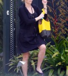First Look At Reese Witherspoon's Bump As She Leaves a Friend's house in Brentwood, California March 28
