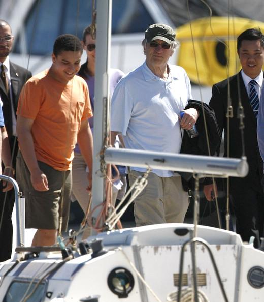 Robert De Niro & Family Enjoy Yacht Ride Down Under