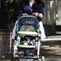Selma Blair takes her son Arthur for a walk in Los Angeles