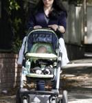 Selma Blair takes her son Arthur for a walk in Los Angeles