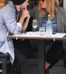 Sienna Miller and boyfriend Tom Sturridge out at a cafe in London (March 30)