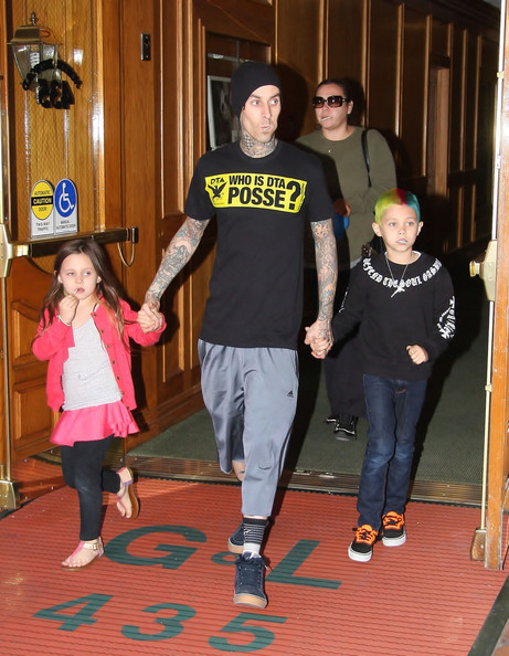 Travis Barker Takes Care Of Father Duties