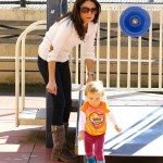 Bethenny Frankel takes her daughter Bryn Hoppy to a playground.
