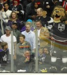 The Beckham Family Enjoying An LA Kings Hockey Game