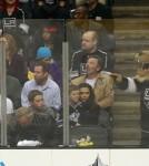The Beckham Family Enjoying An LA Kings Hockey Game